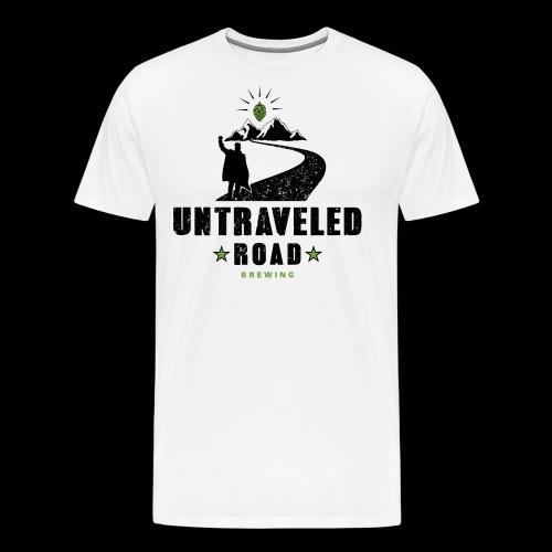 Untraveled Road Logo - schwarz/grün - Männer Premium T-Shirt