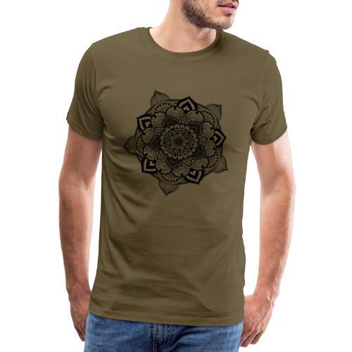 mandala fiore di loto - Maglietta Premium da uomo