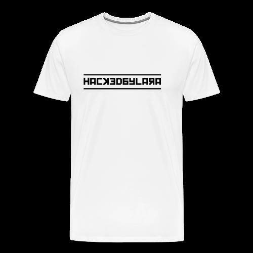 HackedByLara_Logo -Schwarz- - Männer Premium T-Shirt