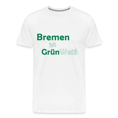 Bremen Grün Weiß - Männer Premium T-Shirt
