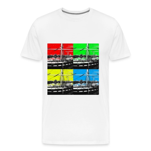belem grue jaune nb carre 4c Copie jpg - T-shirt Premium Homme
