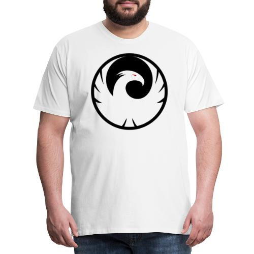 Phönix Logo Schattierung Phoenix schwarz black - Männer Premium T-Shirt