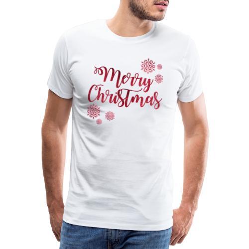 Merry christmas Noël New shape fane design vintage - T-shirt Premium Homme