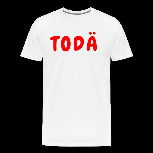 TODÄ - Rött motiv - Premium-T-shirt herr