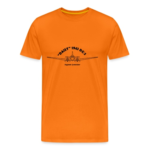 Daisy Blueprint Front 1 - Premium-T-shirt herr