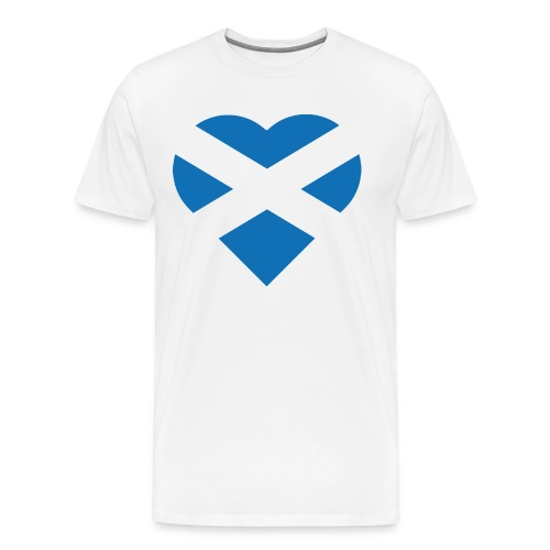 Flag of Scotland - The Saltire - heart shape - Men's Premium T-Shirt
