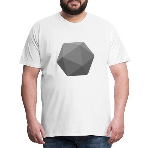 Grey d20 - D&D Dungeons and dragons dnd - T-shirt Premium Homme