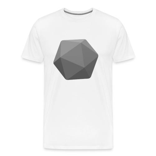 Grey d20 - D&D Dungeons and dragons dnd - Men's Premium T-Shirt