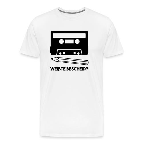 Kassette und Bleistift - Männer Premium T-Shirt