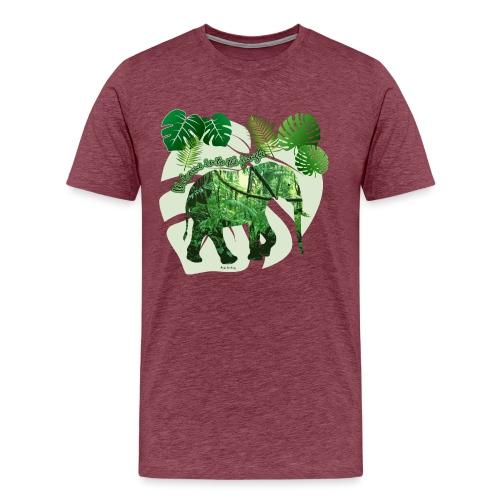 Dschungel - Elefant - Loxodonta cyclotis - Männer Premium T-Shirt