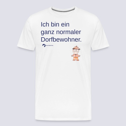 Ganz normaler Dorfbewohner (Schrift blau) - Männer Premium T-Shirt