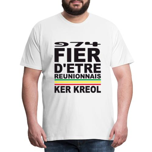 974 ker kreol fier et culture - T-shirt Premium Homme