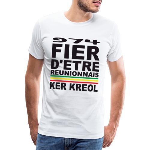 974 Fier d'être Réunionnais - 974 Ker Kreol v1.2 - T-shirt Premium Homme