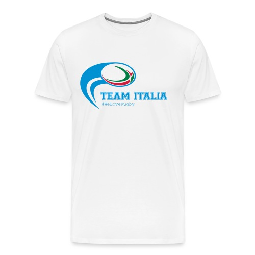 Team Italia - #WeLoveRugby - Maglietta Premium da uomo