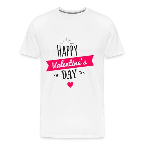 Valentinstag Liebe Freund Freundin Geschenk Idee - Männer Premium T-Shirt