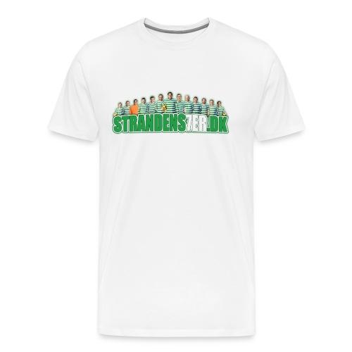 Streamer vinklet TRYK png - Herre premium T-shirt