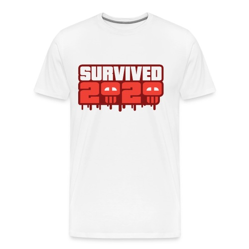 Survived 2020 - Herre premium T-shirt