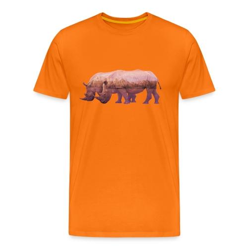 Nashorn Alpen - Männer Premium T-Shirt