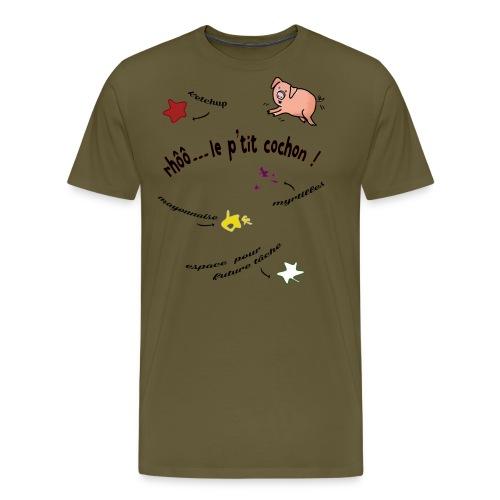 Rhoo le ptit cochon ! (version pour fond blanc) - T-shirt Premium Homme