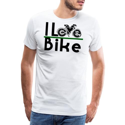 I love bike - Maglietta Premium da uomo
