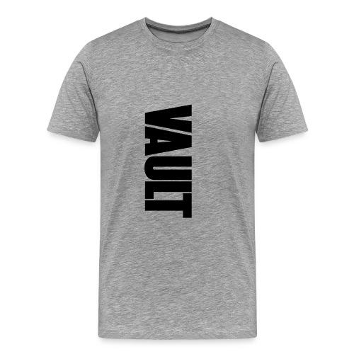VAULT LONDON black vertic - Men's Premium T-Shirt