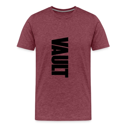 VAULT LONDON black vertic - Men's Premium T-Shirt