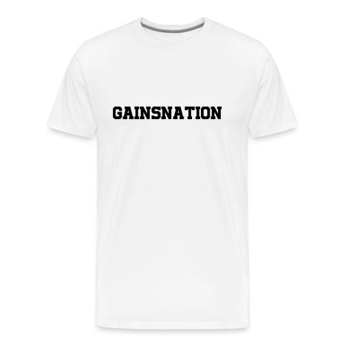 Kortärmad tröja Gainsnation - Premium-T-shirt herr