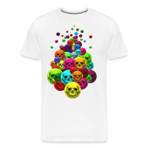Bunter Haufen Schädelsmileys - Männer Premium T-Shirt