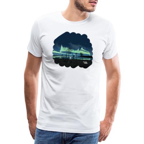 Reflet des aurores boréales - T-shirt Premium Homme