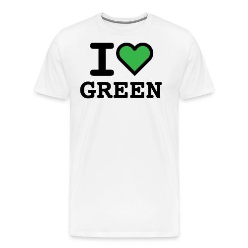 i-love-green-2.png - Maglietta Premium da uomo