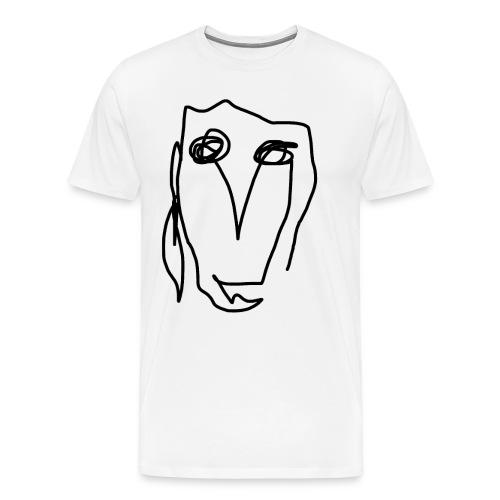 Kunst Gesicht - Männer Premium T-Shirt