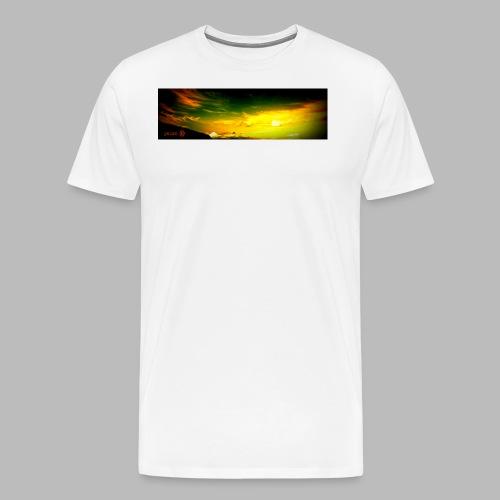 liquid sky with logo stretched longer png - Men's Premium T-Shirt