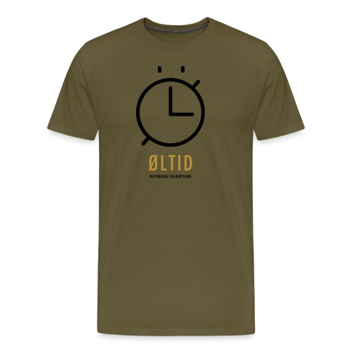 ØLTID logo svart - Premium T-skjorte for menn