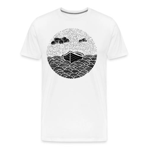Kreis Boot Wasser - Männer Premium T-Shirt
