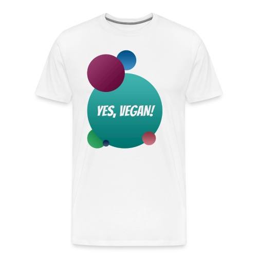 Yes, vegan! - Männer Premium T-Shirt