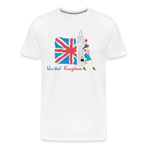 Funny United Kingdom Shopping Shirt - Men's Premium T-Shirt