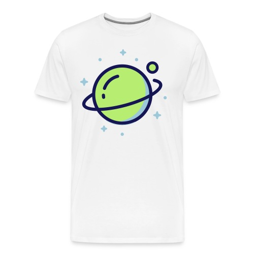 Space Earth - Mannen Premium T-shirt