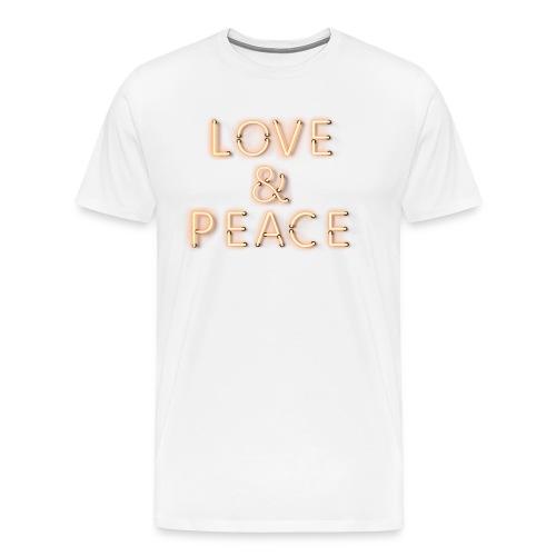 Love And Peace Neon - Männer Premium T-Shirt