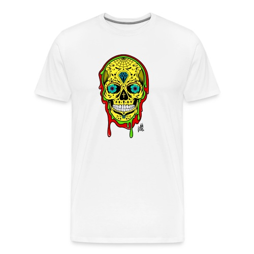 Dipped Sugar Skull - Men's Premium T-Shirt