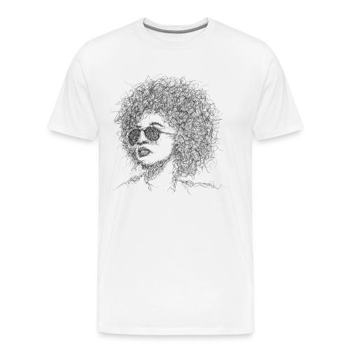 Afro Gribouillage - T-shirt Premium Homme