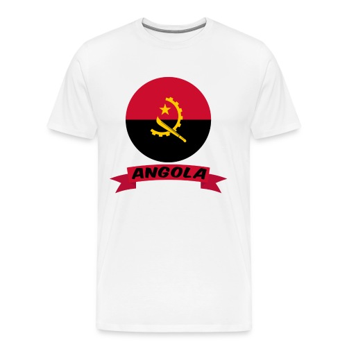 flag of Angola t shirt design ribbon banner - Maglietta Premium da uomo