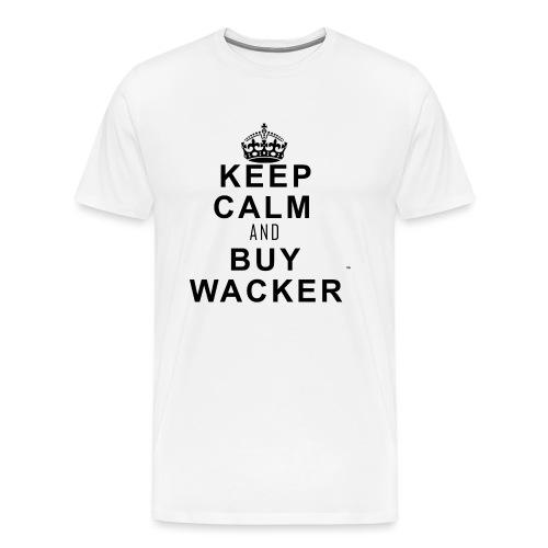 Keepcalmandbuywacker png - Männer Premium T-Shirt