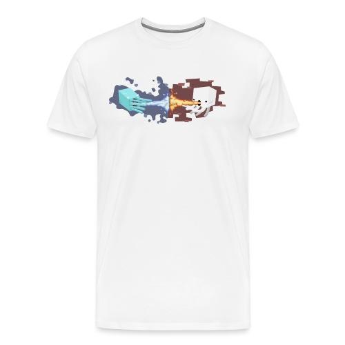 Minecraft - Poulpe vs Gha - T-shirt Premium Homme