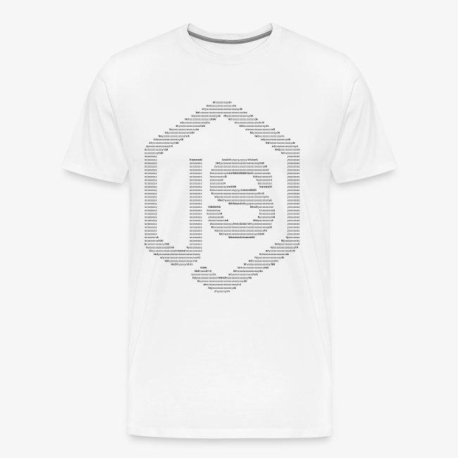 JavaScript Node.js ASCII logo (black)