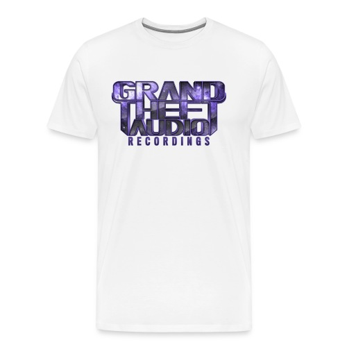 Grand Theft Audio Logo Purple - Men's Premium T-Shirt