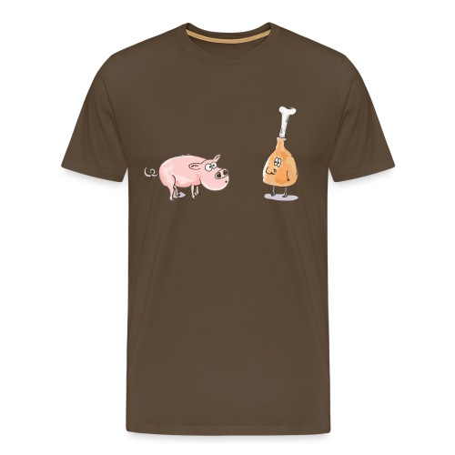 Le cochon et le jambon - T-shirt Premium Homme