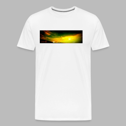 liquid sky with logo stretched longer png - Men's Premium T-Shirt