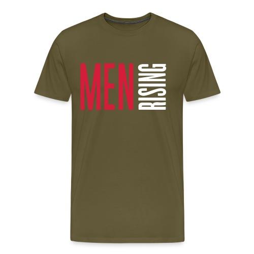 1br rev men rising white - Men's Premium T-Shirt