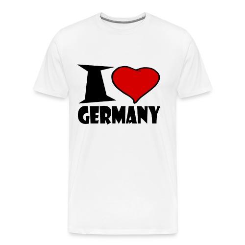 Ich Liebe Deutschland - Germany - Männer Premium T-Shirt