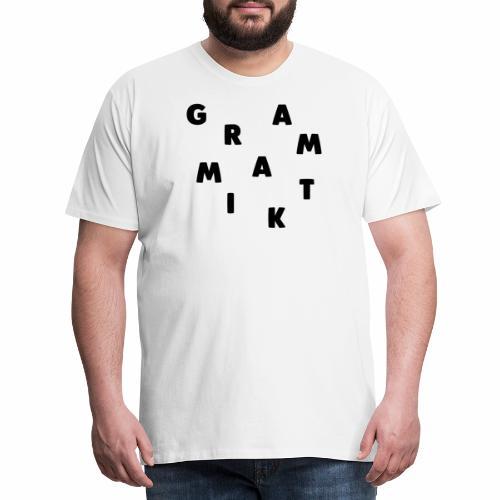 GRAMMATIK - Krydset - Herre premium T-shirt